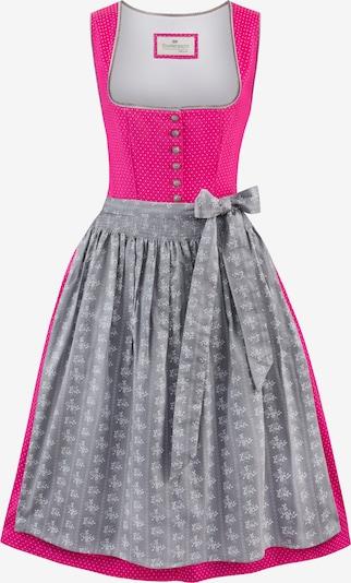 STOCKERPOINT Dirndl 'Jeanne' in de kleur Grijs / Pink, Productweergave
