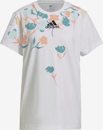 ADIDAS PERFORMANCE Funkcionalna majica | pastelno modra / pastelno zelena / marelica / bela barva, Prikaz izdelka