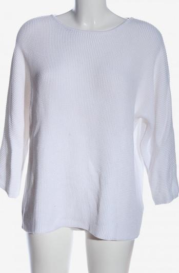 basic apparel Rundhalspullover in M in weiß, Produktansicht