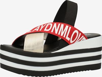 REPLAY Sandale in rot / schwarz / weiß, Produktansicht