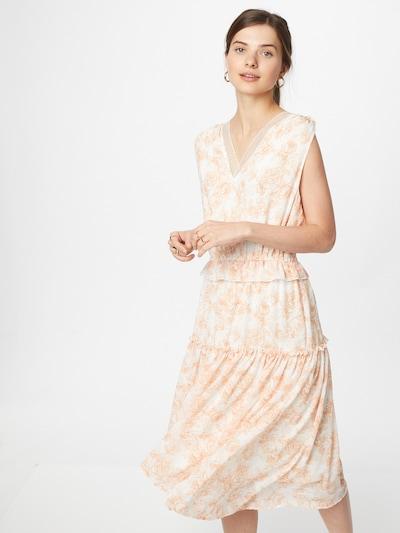 rosemunde Kleid in apricot / weiß, Modelansicht