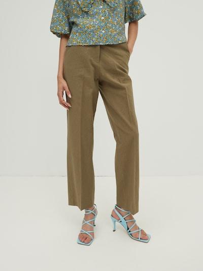 EDITED Pantalon 'Leona' in de kleur Olijfgroen: Vooraanzicht