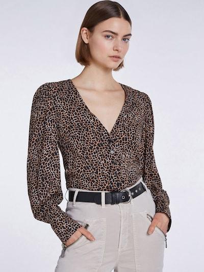 SET Bluse in hellbraun / schwarz, Modelansicht