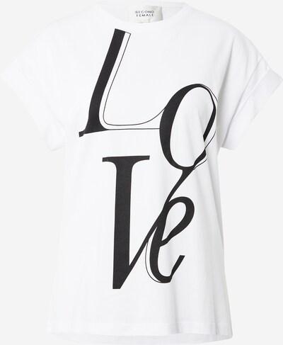 Tricou 'Love' SECOND FEMALE pe negru / alb, Vizualizare produs