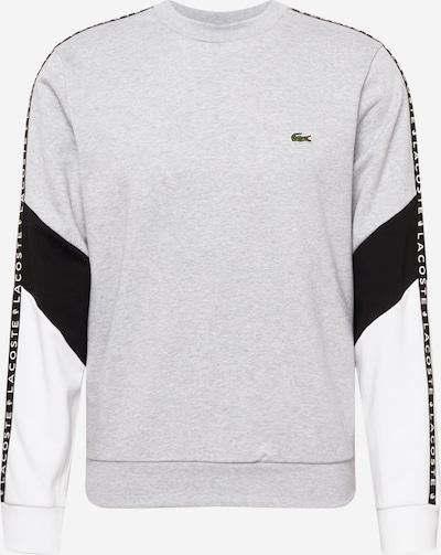LACOSTE Sweatshirt in graumeliert / schwarz / weiß, Produktansicht