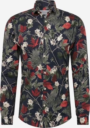 Lindbergh Skjorte i navy / blandingsfarvet, Produktvisning