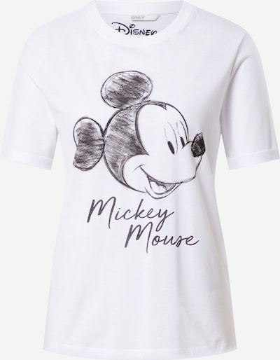 ONLY T-Shirt 'MICKEY VINTAGE FACE' in anthrazit / weiß, Produktansicht