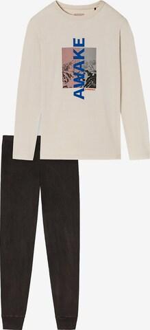 SCHIESSER Schlafanzug in Beige