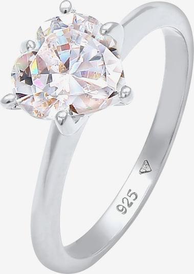 Inele 'Kristall Ring' ELLI pe argintiu, Vizualizare produs