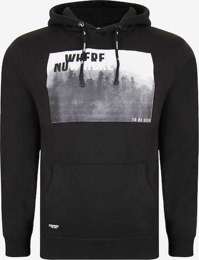 Threadbare Sweat-shirt en gris / noir / blanc, Vue avec produit
