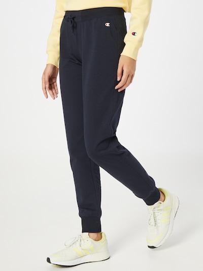 Champion Authentic Athletic Apparel Παντελόνι σε μπλε νύχτας / κόκκινο / λευκό, Άποψη μοντέλου