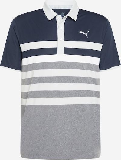 PUMA Koszulka funkcyjna 'One Way' w kolorze ciemny niebieski / nakrapiany szary / białym, Podgląd produktu
