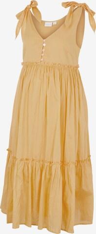 Rochie tip bluză 'Evelyn' de la MAMALICIOUS pe portocaliu