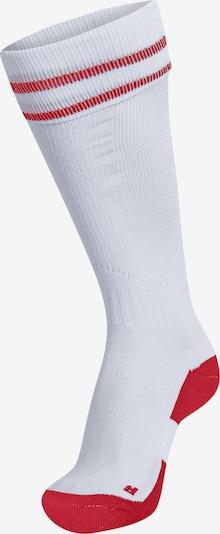 Hummel Sportsocken 'ELEMENT' in rot / weiß, Produktansicht