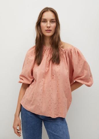 MANGO Bluse 'Brisbain' i rosa