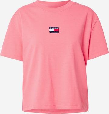 Tricou de la Tommy Jeans pe roz