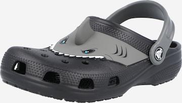 Pantofi deschiși de la Crocs pe negru