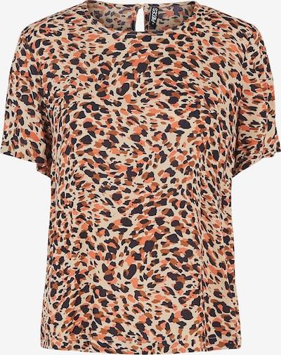 PIECES Shirt 'Nya' in de kleur Nude / Bruin / Koraal / Zwart, Productweergave