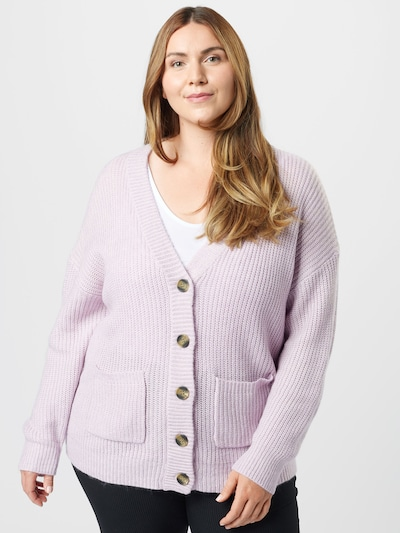 Cotton On Curve Strickjacke 'LUSH' in helllila, Modelansicht