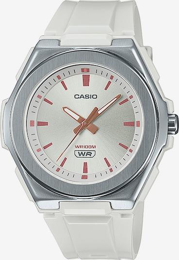 CASIO Damenuhr in silber / weiß, Produktansicht