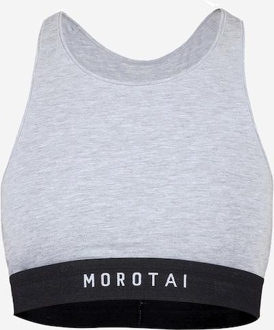 MOROTAI Sport-BH 'Premium Bra' in graumeliert / schwarz / weiß, Produktansicht