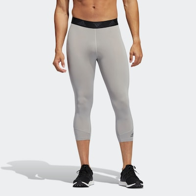 ADIDAS PERFORMANCE Športové nohavice 'Techfit' - sivá / čierna, Model/-ka