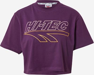 HI-TEC Sportshirt 'BASSENTHWAITE' in gelb / dunkellila / weiß, Produktansicht