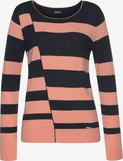 LAURA SCOTT Pullover in marine / apricot, Produktansicht