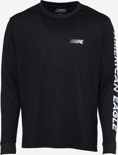 Tricou 'LEAGUE TRANS' American Eagle pe negru / alb, Vizualizare produs