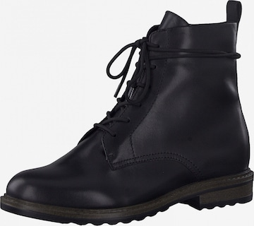 Tamaris GreenStep Lace-Up Ankle Boots in Black
