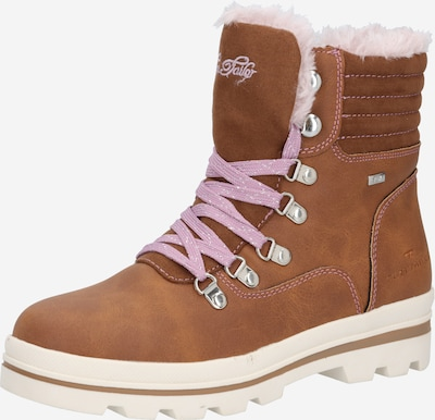 TOM TAILOR Botas de nieve en marrón claro / lila pastel / rosa pastel, Vista del producto