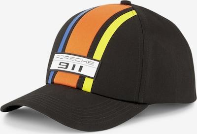 PUMA Casquette 'Porsche Legacy' en bleu fumé / jaune / orange / noir / blanc, Vue avec produit