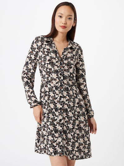 Mavi Kleid in senf / schwarz / weiß, Modelansicht