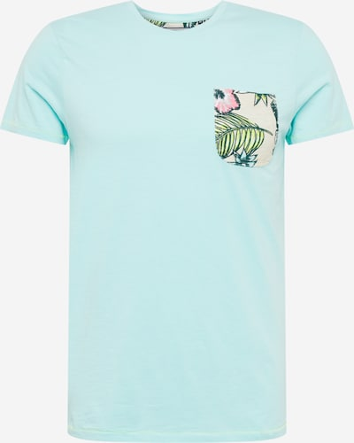 Petrol Industries T-shirt i beige / ljusblå / gräsgrön / rosa, Produktvy