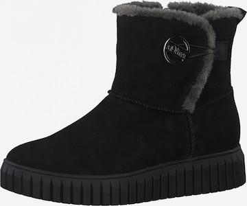 s.Oliver Snowboots i svart
