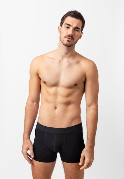 SNOCKS Boxershorts in schwarz, Modelansicht