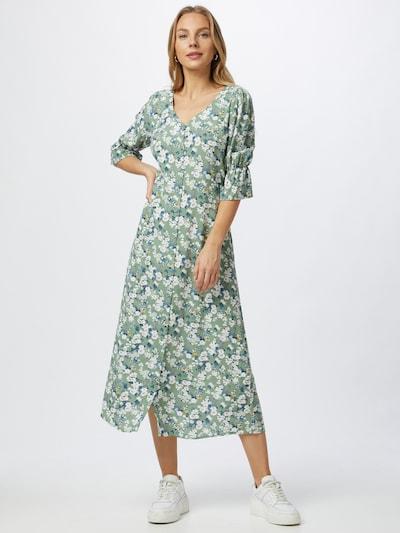 Trendyol Skjortklänning i mörkblå / gul / mint / syrén / vit, På modell