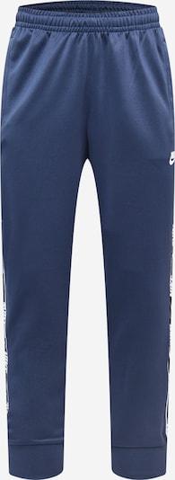 Nike Sportswear Pantalon en bleu foncé / blanc, Vue avec produit