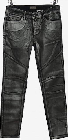 Mandarin Pants in M in Silver