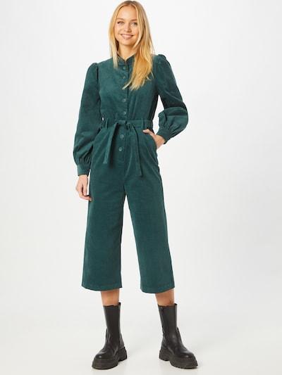 Louche Jumpsuit 'LINDSAY' in de kleur Petrol, Modelweergave