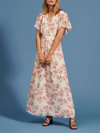 VILA Šaty 'Kathryn' - olivová / starorůžová / bílá, Model/ka