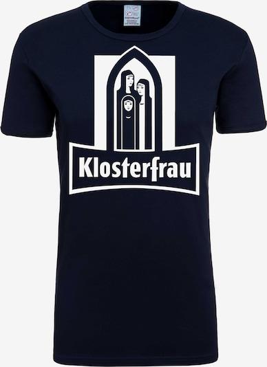 LOGOSHIRT T-Shirt 'Klosterfrau' in dunkelblau / weiß, Produktansicht