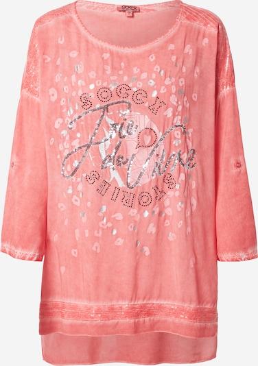Bluză 'Oh La La Paris' Soccx pe roz / roșu pastel / negru / argintiu, Vizualizare produs