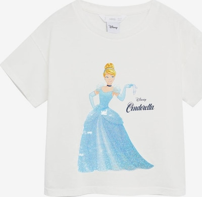 MANGO KIDS T-Shirt 'Cinderel' in nachtblau / hellblau / gelb / mischfarben / weißmeliert, Produktansicht