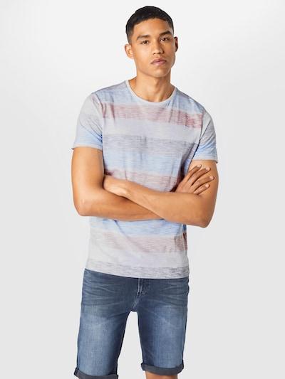 BRAVE SOUL Тениска 'RANGEX' в светлосиньо / патладжан / пастелно червено / бяло, Преглед на модела