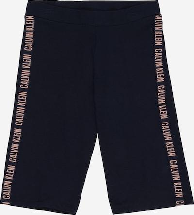 Calvin Klein Underwear Leggings en beige clair / bleu marine, Vue avec produit