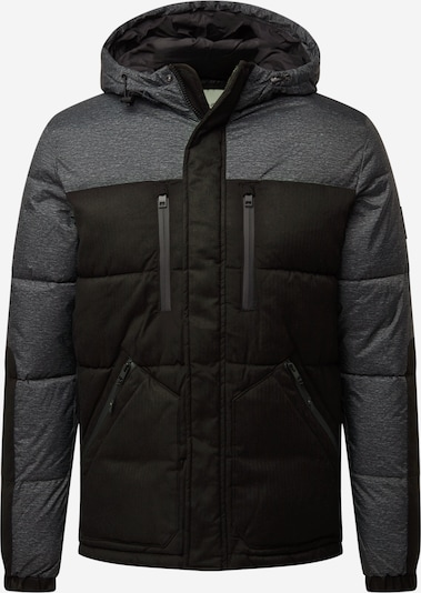 JACK & JONES Vinterjakke 'BOLT' i basaltgrå / sort, Produktvisning