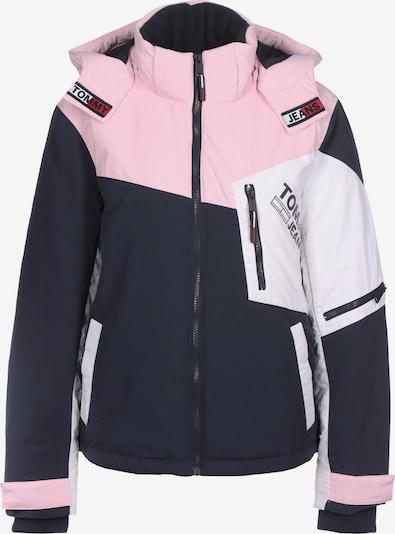 Tommy Jeans Winterjacke in marine / pink / weiß, Produktansicht
