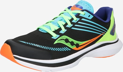Pantofi sport 'Kinvara 12' saucony pe albastru aqua / verde kiwi / mov închis / portocaliu / negru, Vizualizare produs