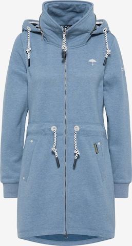 Schmuddelwedda Zip-Up Hoodie in Blue